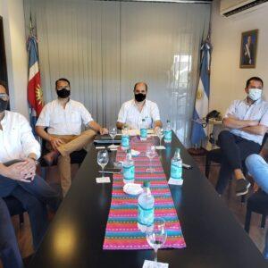 El ministro Mandrille mantuvo una importante reunión con empresarios del sector ganadero