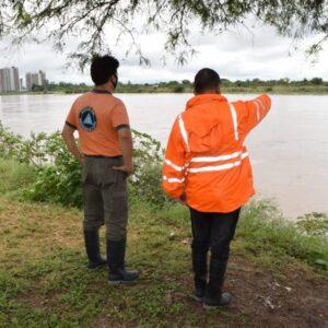 Defensa Civil de la Municipalidad informó del aumento del caudal de agua del Río Dulce