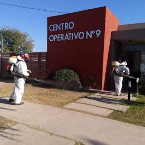 La Municipalidad sanitizó todos los edificios de los centros operativos que se encargan de la recolección de residuos